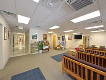 Interior of a modular building.
