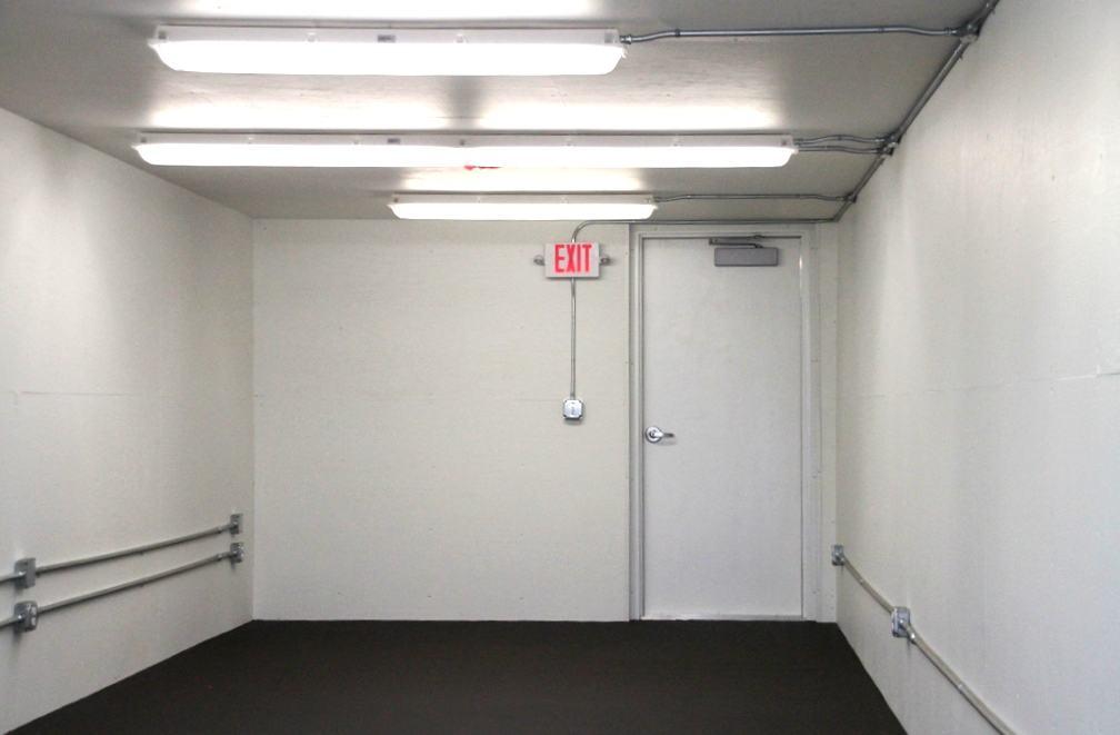Blast resistant shelter white interior 1